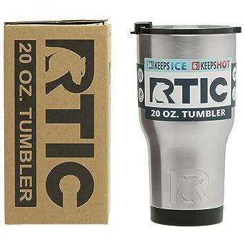 Amazon.com: Vaso de acero inoxidable RTIC de 20 oz: Kitchen ...