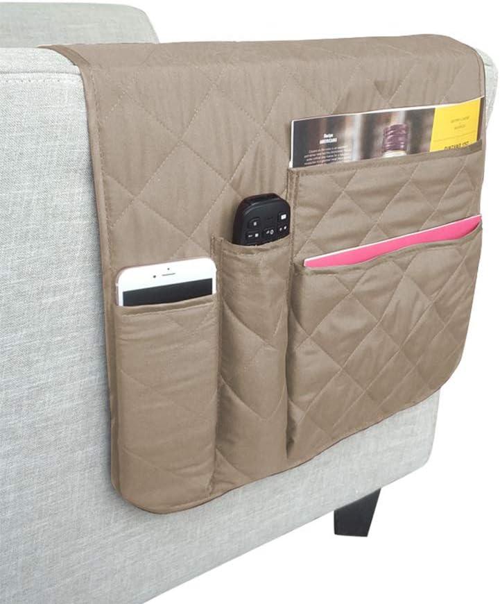 canapé drapé sur canapé BASELIFE Space Saver Canapé Chaise Organiseur pour accoudoir Porte-Revues Fauteuil inclinable Accoudoirs pour Télécommande Crayon Téléphone Portable Livre