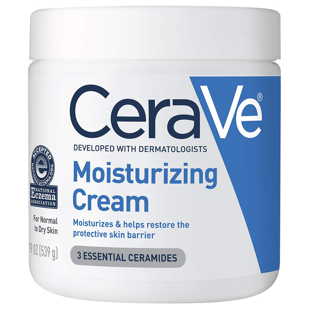 Amazon.com: CeraVe Moisturizing Cream | Body and Face Moisturizer for Dry  Skin | Body Cream with Hyaluronic Acid and Ceramides | 19 Ounce: Beauty