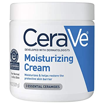 CeraVe Moisturizing Cream | Body and Face Moisturizer for Dry Skin | Body Cream with Hyaluronic Acid and Ceramides | 19 Ounce