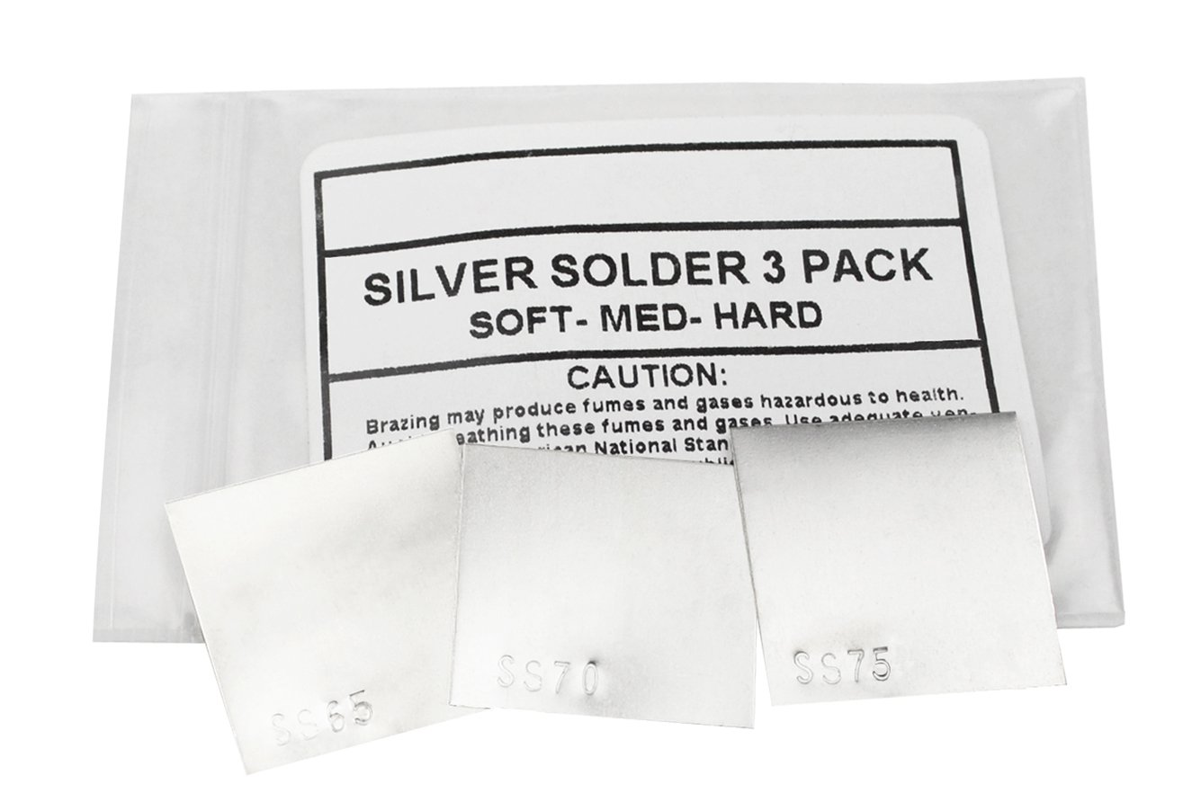 3 Piece Silver Solder Sheet - 1 DWT Each of Soft Medium Hard Jewelry Making SS65 SS70 & SS75 Soldering Sheet Set PMC Supplies SOL-860.90