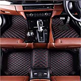 Car Floor Mats Fit for Land Rover Discovery Sport 5 Seater 2015-2018 Carpets Floor Liner All Weather Non-slip Waterproof Custom Made Artificial Leather (black with red stitching, right hand drive)
