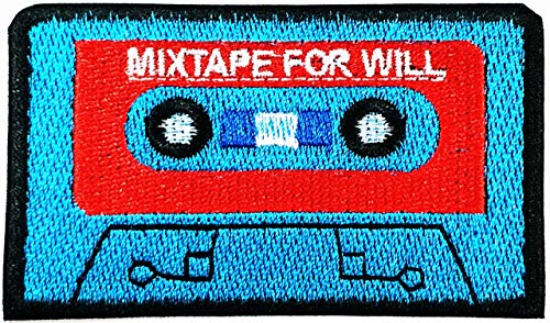 Audio Cassette Tape Ska Rockabilly Raggae Hippie Classic Music Style Cute Catoon Patch Embroidered Applique Fabric Craft Art DIY Vest Jacket Cap Hoodie Backpack Patch Iron On/sew on Patch