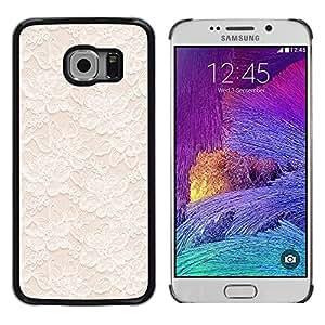 LECELL--Funda protectora / Cubierta / Piel For Samsung Galaxy S6 EDGE SM-G925 -- White Spring Wallpaper Minimalist --