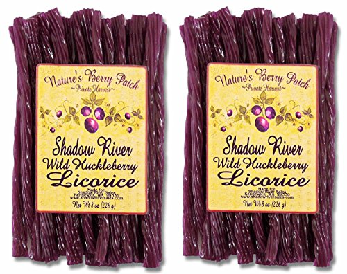 - Shadow River Wild Huckleberry Gourmet Licorice Candy 8 oz - Pack of 2