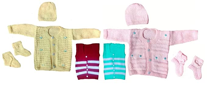 e39a8b3f3a5 BabyBlossom New Born Baby Sleeveless Sweater Set (BB02