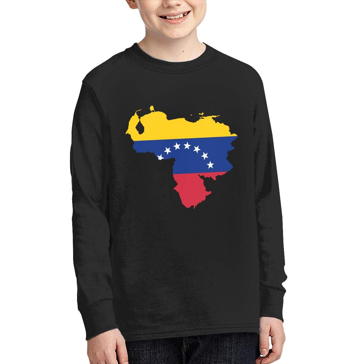 Teenagers Teen Girl Venezuela Map Flag-1 Printed Long Sleeve 100/% Cotton Tops
