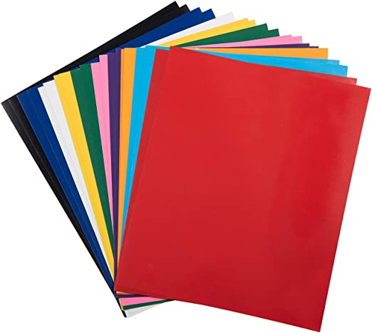 Easy to Cut /& Weed Adhesive Vinyl for Design DIY T-Shirts and Clothes Iron On Heat Transfer Vinyl for Cricut /& Silhouette Cameo PU HTV Vinyl Bundle 20 Pack 20 Assorted Colors 12x 10 Sheets