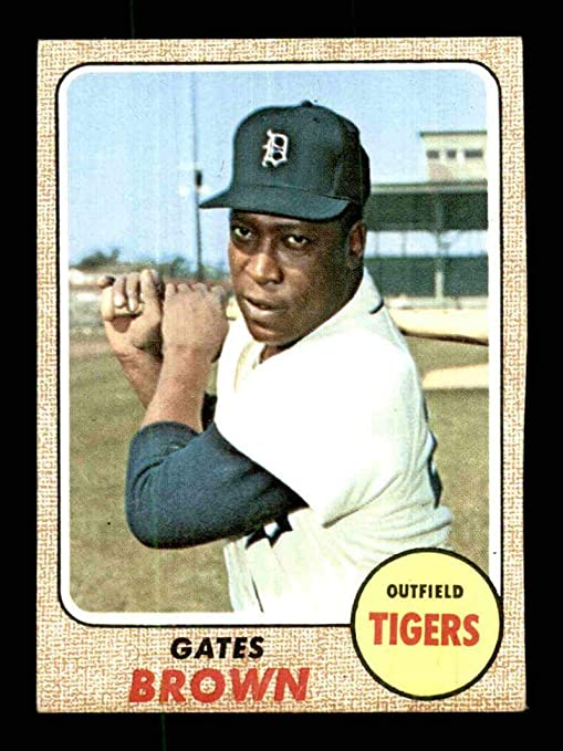 583 Gates Brown 1968 Topps Baseball Cards Graded Nm Baseball