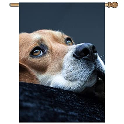 XASFF Lone Beagle Garden Flag Polyester Outdoor Home Party Flag