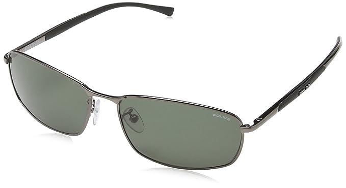 Police - Gafas de sol Rectangulares S8650 para hombre ...