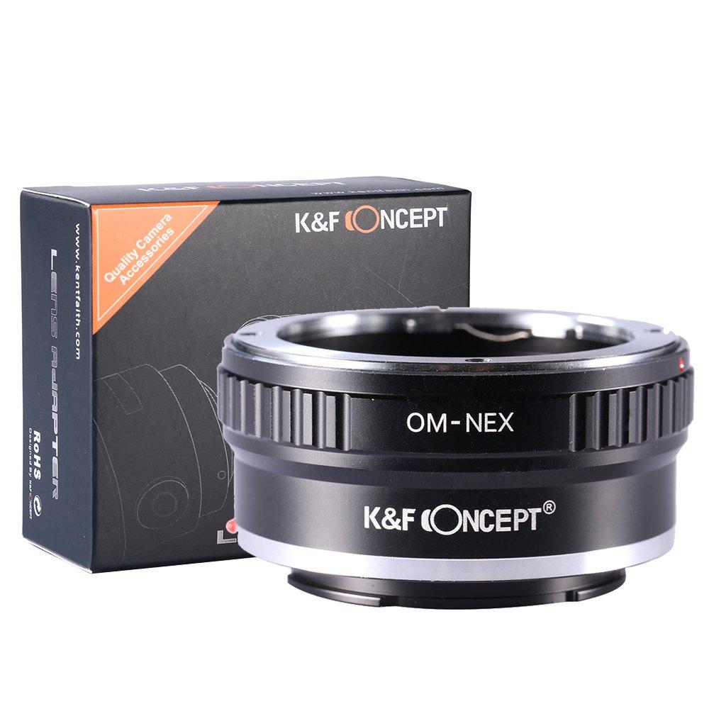 K/&F Concept Anello Adattatore OM-NEX per Obiettivo di Olympus OM sulla Fotocamera di Sony NEX-3 NEX-5 EMount