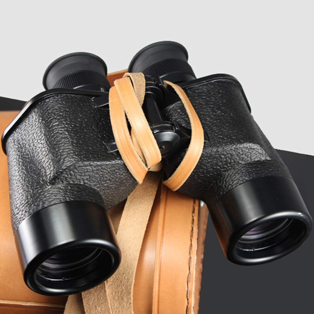 PUWEN 7x40 Binoculars for Adults with Night Vision,Compact Telescope for Bird Watching, Sports Events, Adventure and Concerts with Distance Measurement with Carring Bag ( Color : Black )
