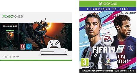 FIFA 19 Champions + Xbox One S - Consola 1 TB + Shadow Of The Tomb Raider: Amazon.es: Videojuegos