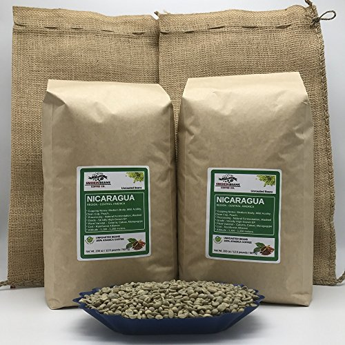 25lb NICARAGUA (include 2 FREE BURLAP BAGS) Specialty-Grade, CURRENT-CROP Green Unroasted Coffee Beans – SantaRita – Natural Fermentation Process, Washing in Running Channel, Sundried, Resting 60 days by Smokin Beans