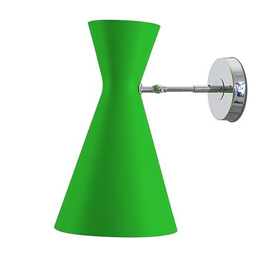 Lampada da Parete StilNovo in alluminio Verde - Vintage - Anni 50 - E27 -  Retro 2cbae5040e7