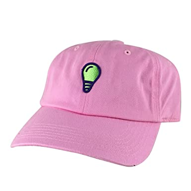 Image Unavailable. Image not available for. Color  3D Light Bulb  Unstructured Strapback Baseball Cap Dad Hat - Pink ... 6d9f3f3b5eb9