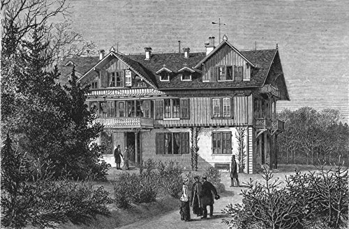 AUSTRIA. The Villa Hohenlohe, where Her Majesty is staying - 1880 - old antique vintage print - engraving art picture prints of Austria Stately Homes - The - Antique 1880 Engraving