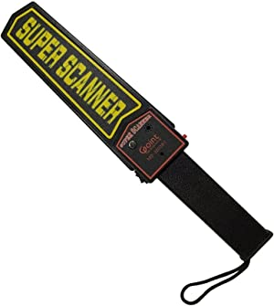 Lintat Adjustable Sensitivity Portable Handheld Metal Detector Security Scanner Wand with Belt Holster, Optional Sound & Vibration Modes