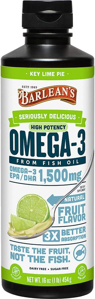 Barlean's Seriously Delicious Omega-3 High Potency Fish Oil
