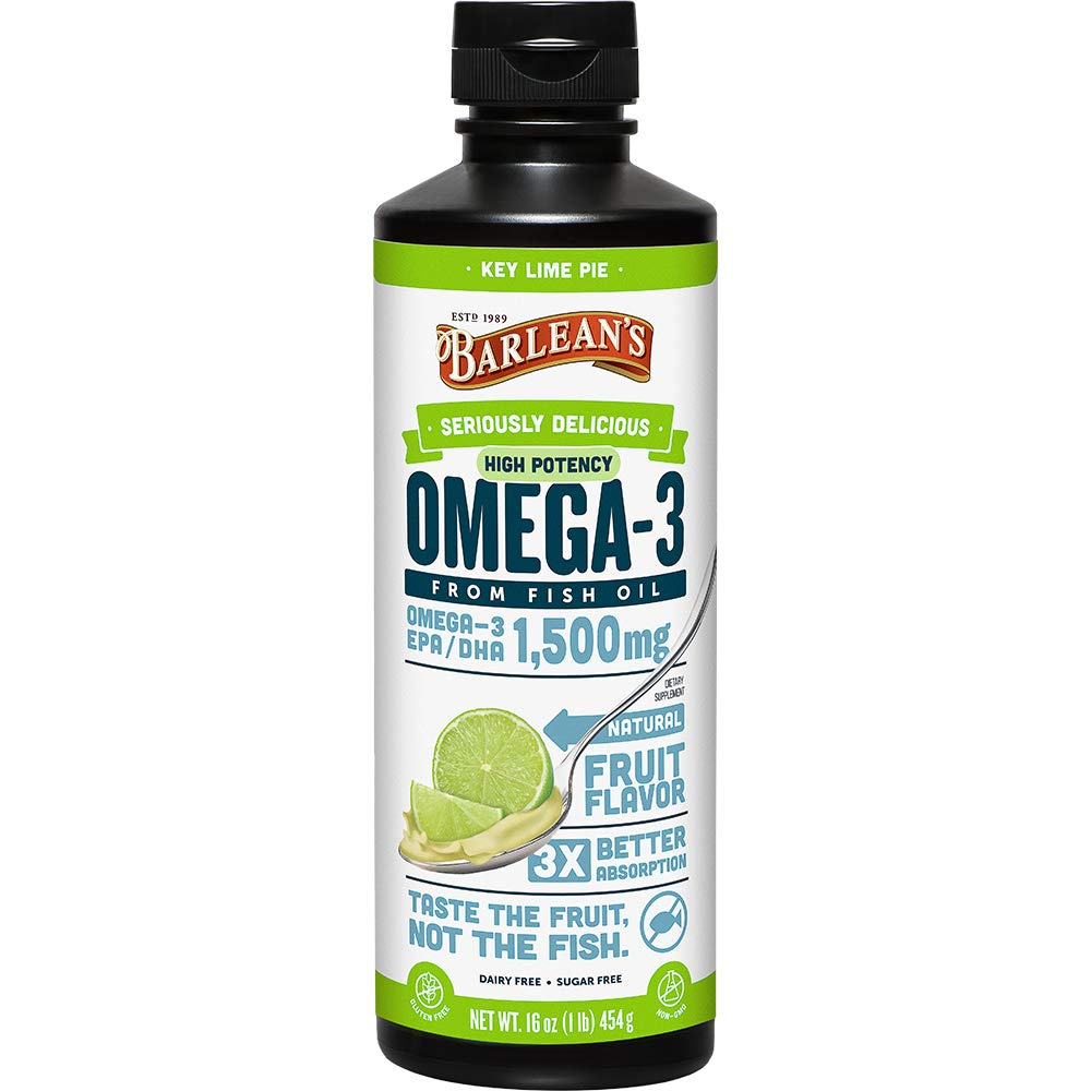 Barlean's Seriously Delicious Omega-3 High Potency Fish Oil, Key Lime Pie, 16-oz by Barlean's Organic Oils