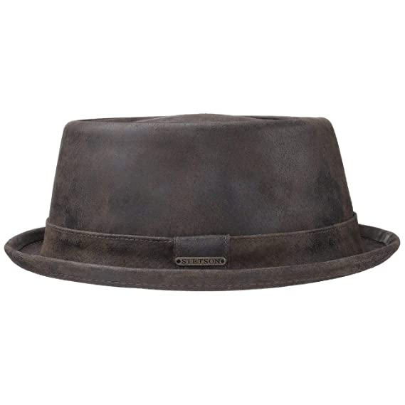 1fca3def Stetson Pennsylvania Pigskin Hat Men | Porkpie Men´s with Lining, Leather  Trim Summer-Winter: Amazon.co.uk: Clothing