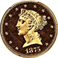 1875 P $5 Liberty Gold (Proof) Five Dollar PR65 PCGS CAM