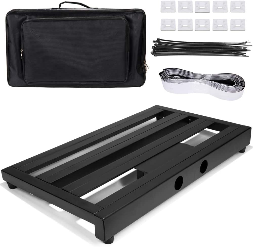 Luvay Guitar Pedal Board Extra Large 22 x 12.6 7LB Pedalboard with Bag