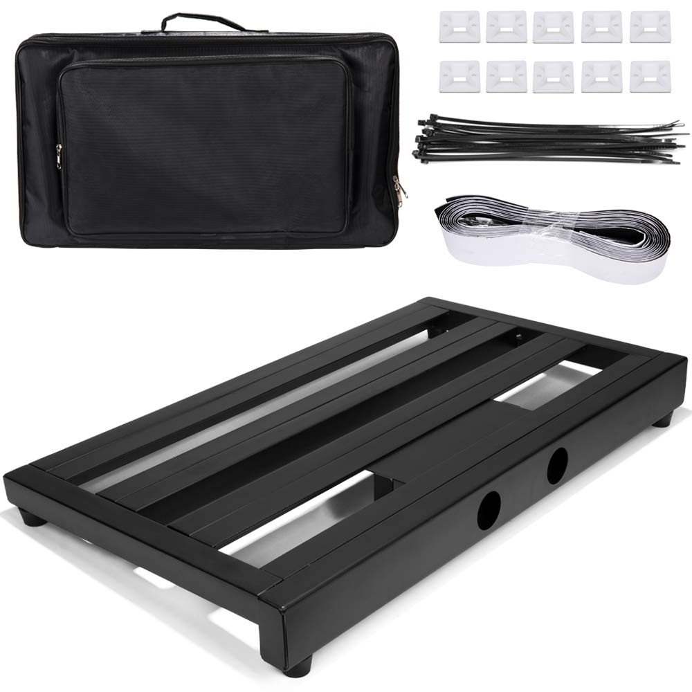Luvay Guitar Pedal Board - Extra Large (22'' x 12.6'') with Bag, 7LB Pedalboard by LUVAY