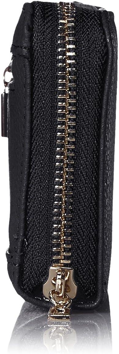 Guess Digital Slg Large Zip Around, Portafoglio Donna Nero (black)