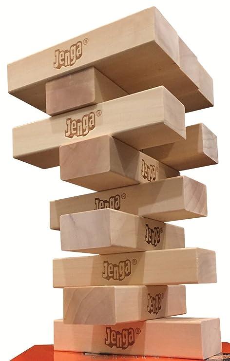 Amazoncom 12 Block Booster Pack For Jenga Giant Genuine Hardwood