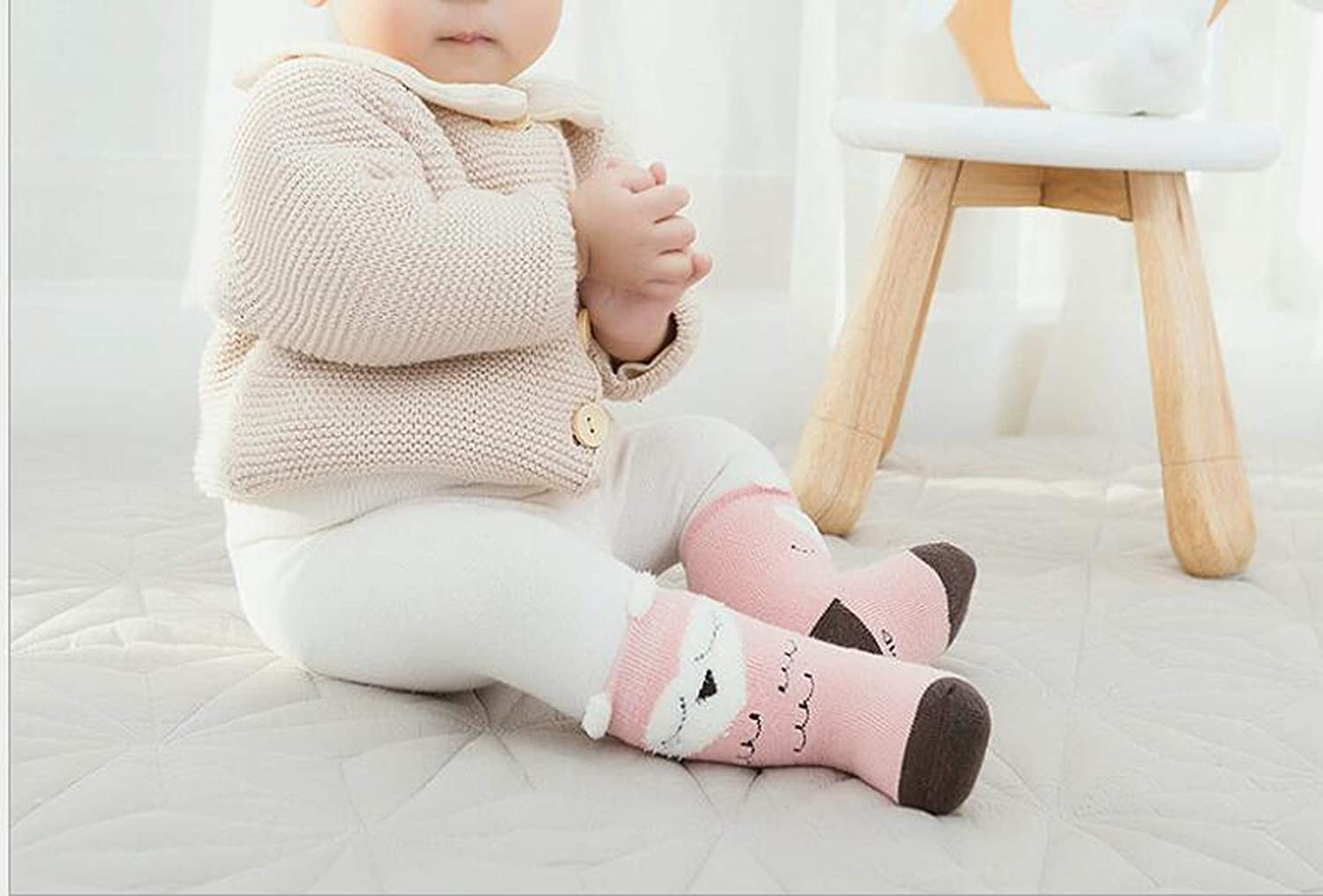 Lucky staryuan 6Pack Warm Winter Baby Girl Boy Thick Socks Cartoon Animal Stocking