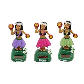 1f630d19c3d6e B Blesiya 3 Piezas Juguete de Muñecas Hawaianas de Energía Solar Ornamento  de Hogar Casa Automóvil  Amazon.es  Juguetes y juegos