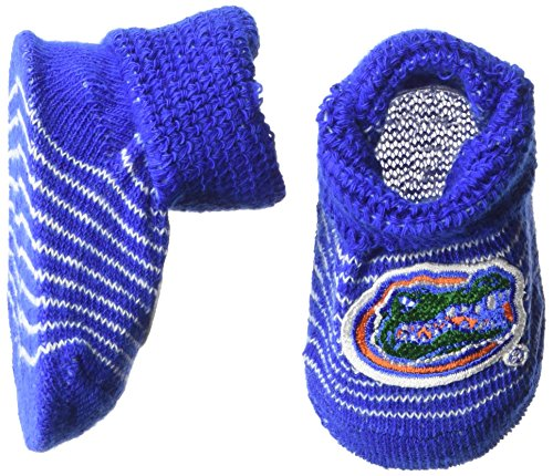 Two Feet Ahead NCAA Florida Gators Infant Stripe Gift Box Booties, New Born, - Ncaa Florida Stripes Gators