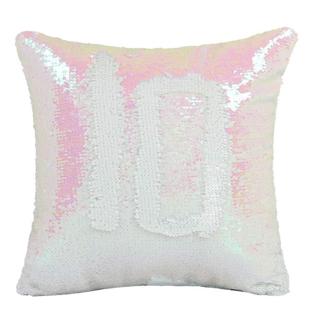 Blansdi リバーシブル スパンコール 枕カバー マーメイド マジック DIY スロー 枕カバー 装飾枕 クッションカバー 16インチ ソファ カウチ ベッド用 16
