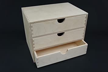 1 X Plain Wooden Cupboard Chest Shelf With Drawers Storage Desktop A4 Unit Pd43