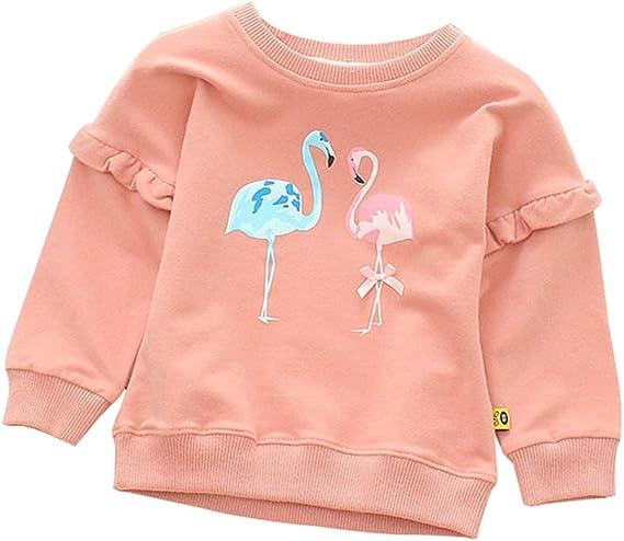 Christmas Flamingos Baby Sweatshirt Stylish Toddler Hoodies Cotton Pullovers