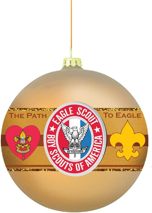 Kurt S. Adler Boy America Path to Eagle Scout 80MM Glass Ball Ornament