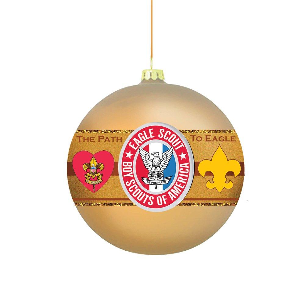 Kurt S. Adler Boy America Path to Eagle Scout 80MM Glass Ball Ornament