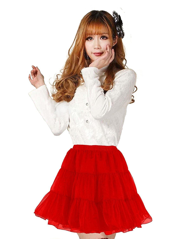 Shimaly Women's Short Length Petticoat Above Knee Underskirt Half Slip Crinoline