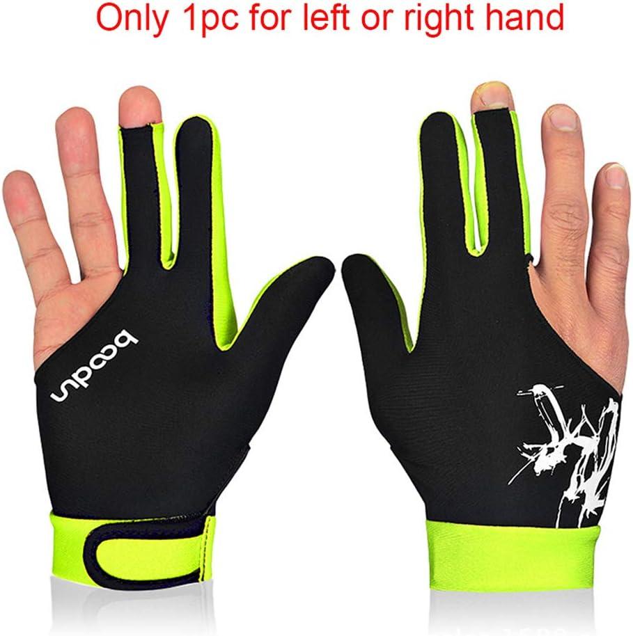1PCS 3 Fingered Billiard Gloves Pool Snooker Glove Men Women Fits Both Left Right Hand Billiard Accessories