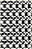 Table in a Bag RUG3BLK46 Vinyl Rug, 4'x6', Black and White