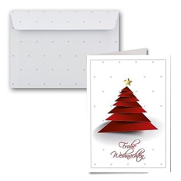 1000x Weihnachtskarten Set Din A6 Weihnachts Baum Motiv Mit Brief