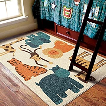 Amazon Com Exotic Safari Design Area Rug Vintage