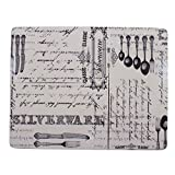 "4X CLASSIC MONOCHROME CUTLERY BLACK GREY HEAT RESISTANT CORK PLACEMATS L13""XW10"""