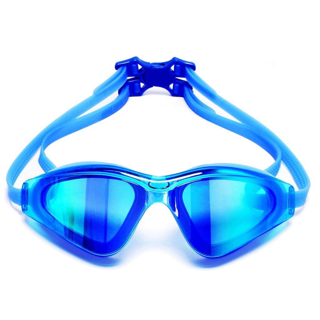 Schwimmbrille LCSHAN Goggles HD Anti-Fog Wasserdichte Brille Brille Brille Männer und Frauen Erwachsene Große Rahmen Specialty (Farbe   Blau) B07DNQP4DZ Schwimmbrillen eine große Vielfalt bb2bf8