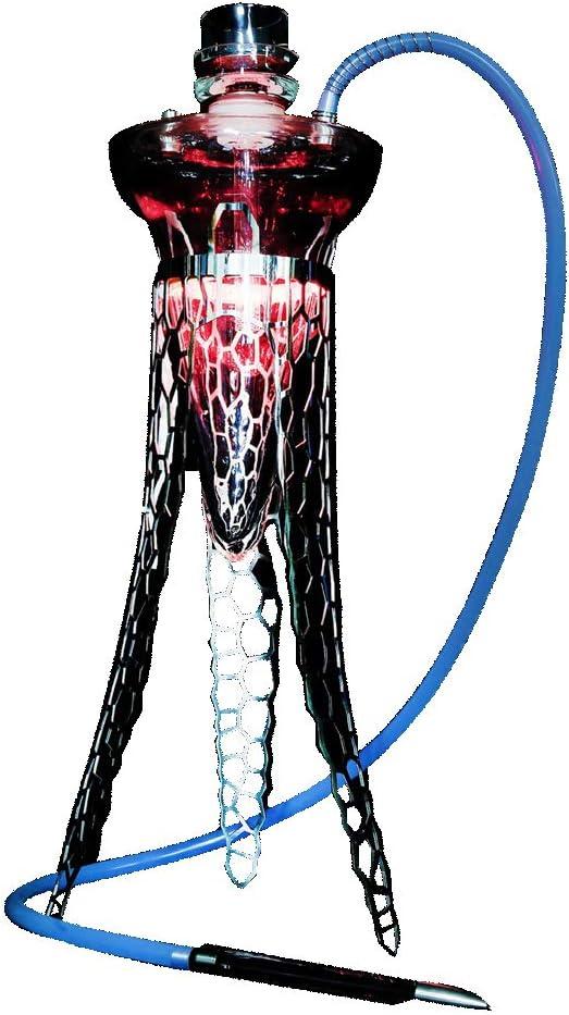 La pipa de agua árabe, el doble de la pipa de acero inoxidable del fumador de Medusa puede cambiar de color