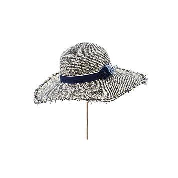 YXINY Viseras LY-215 Vacaciones Sombrero del Verano De Las Mujeres Sombrero De Visera El Sol Sombrero Sombrero De Paja Gorro De Playa Playa Protección Solar ...