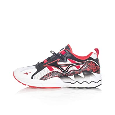 new concept 7be13 aac6d Amazon.com   MIZUNO 1906 Shoes Men Low Sneakers D1GA192509 Wave Rider 1  Size 41 White Red   Shoes