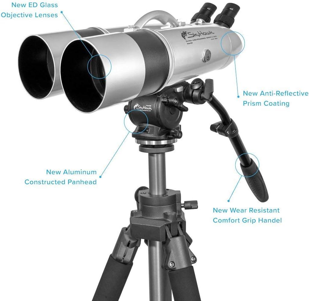 Skyhawk Model 9800 Binoculars 25x 40x 100mm Complete Set